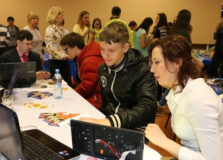 TUSUR atthe City ofProfessions Fair for school students