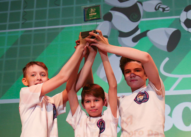 Awards Ceremony atRoboCup Russia Open 2017